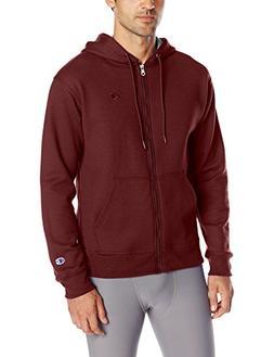 Champion Men's Powerblend Sweats Full Zip Jacket Maroon L