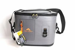 Ozark Trail Premium 24 Can Grey Soft Cooler With Bottle Open