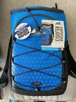 Arctic Zone PRO 24 Can Backpack Cooler Color Blue Navy Black