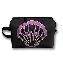 Purple Mermaid Shell Full Print Lightweight Travel Cosmetic