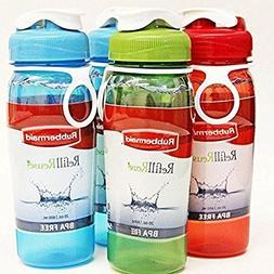 Rubbermaid Refill Reuse Chug Bottle, 20 Ounce, Assorted Colo