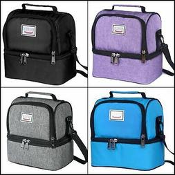 Refrigerated Lunch Box Cooler Tote Bag Double Deck Cooler