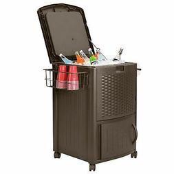 resin wicker cooler with cabinet java 77