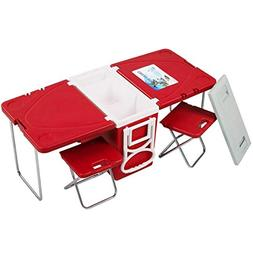 Giantex Rolling Cooler Picnic Table Multi Function for Picni