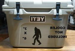 Sasquatch Big Foot Yeti decal sticker for cooler auto