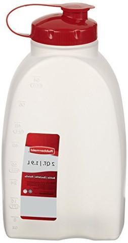 Rubbermaid 2 Qt. Servin Saver White Bottle