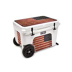 MightySkins Skin for Yeti Tundra Haul Cooler - Vintage Flag