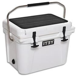 MightySkins Skin for YETI Roadie 20 qt Cooler Lid – Carbon