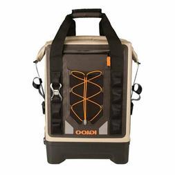 Igloo Sportsman Waterproof Backpack Cooler, Tan/Black/Orange