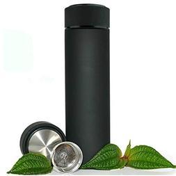 Stainless Steel Travel Mug - TEA INFUSER Bottle - Double Wal