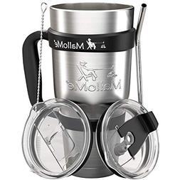 MalloMe Stainless Steel Tumbler 30 oz Insulated Coffee Cup T