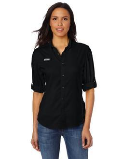 Columbia Women's Tamiami II Long Sleeve Shirt, X-Small, Blac