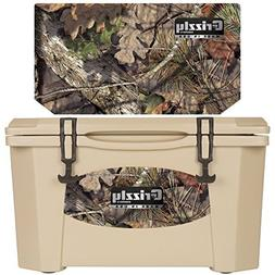 Grizzly Coolers - Tan - Mossy Oak - Breakup - 40 Quart