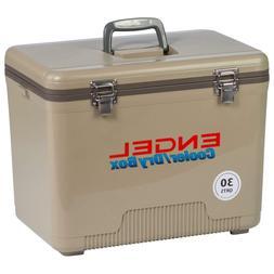 Tan Cooler/Dry Box, 30 Quart Air Tight Waterproof Seal for L