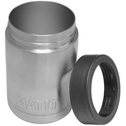 titan stainless steel 12oz can cooler cup