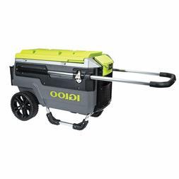 Igloo Trailmate Journey Cooler, Charcoal/Acid Green/Chrome,