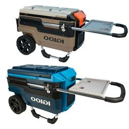 Igloo Trailmate Journey Cooler with Wheels Brown & Blue Tea