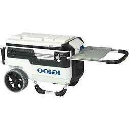 Igloo Trailmate Marine Wheeled Cooler, White/Black/White/Chr