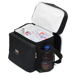 MOJECTO Two Compartments Cooler Lunch Bag with Removable Lea