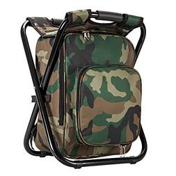Upgrade Large Size Ultralight Backpack Cooler Chair, Portabl
