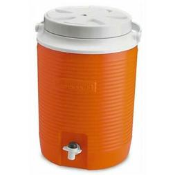 Rubbermaid 2 Gallon Orange Victory Thermal Jug Water Coolers