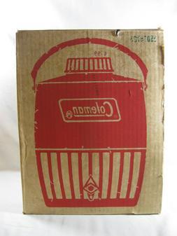Vintage Red Coleman SnowLite Steel 2 Gallon Cooler Water Jug