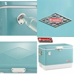 Coleman Vintage Turquoise 54-Quart Steel-Belted Cooler New i