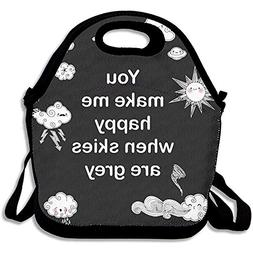 YALING Washable,Non-Toxic Insulated Lunch Bag Lunch Bag For