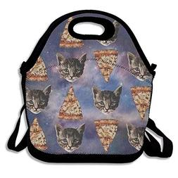 YALING Washable,Non-Toxic Insulated Lunch Bag Pizza Cat Lunc