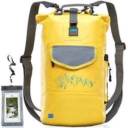Luck route Waterproof Dry Bag Backpack with Straps and Pocke