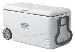 COLEMAN 3000003696 Wheeled Marine Cooler,82qt,120 Cans,Wht