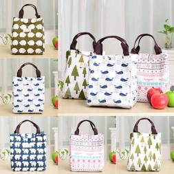 For Women Kids Men Insulated Canvas Box Tote Bag Thermal Coo