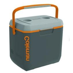 Coleman Xtreme Cooler, 28-Quart, Dark Gray/Orange/Light Gray