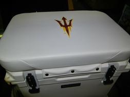 Yeti 50 qt & Others Cooler Cushion White Arizona State  FREE