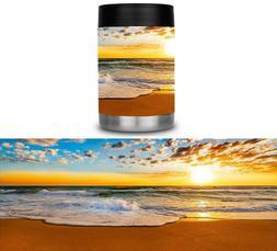 Yeti Colster RTIC Can Cooler Vinyl Wrap Beach Waves Best Mat