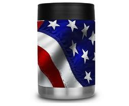 Yeti Colster RTIC Can Cooler Vinyl Wrap American Flag Best M
