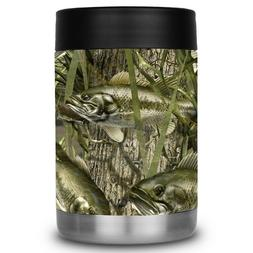 Yeti Colster RTIC Can Cooler Vinyl Wrap Camo Bass Fishing Be