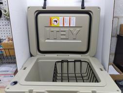 YETI TUNDRA 35 desert tan cooler with dry goods basket