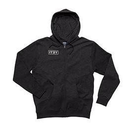 YETI Full Zip Hoodie Sweatshirt, Dark Gray Heather, L