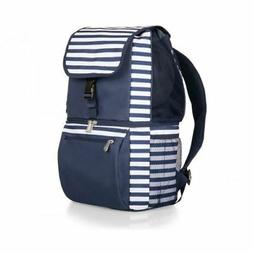 Picnic Time Zuma Cooler Backpack, Navy & White Stripes